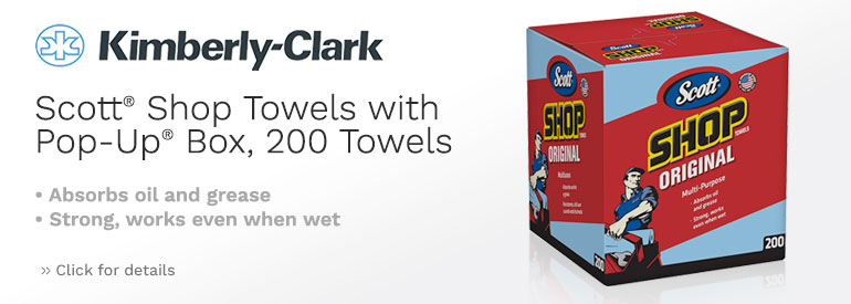 Scott Shop Towels with Pop-Up® Box, 200 Towels